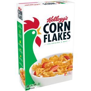 A box of Kellogg's Corn Flakes