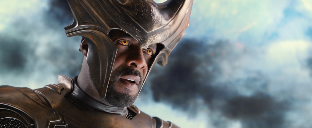 Heimdall played by Idris Elba in Thor: The Dark World (2013.) Image from Flickr.