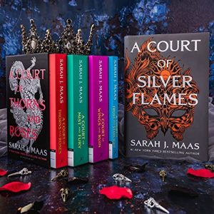 Box set of the A Court of Thorns and Roses series by Sarah J Maas. Image from Amazon.