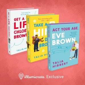 Illumicrate exclusive editions of The Brown Sisters series. Image from illumicrate.com.